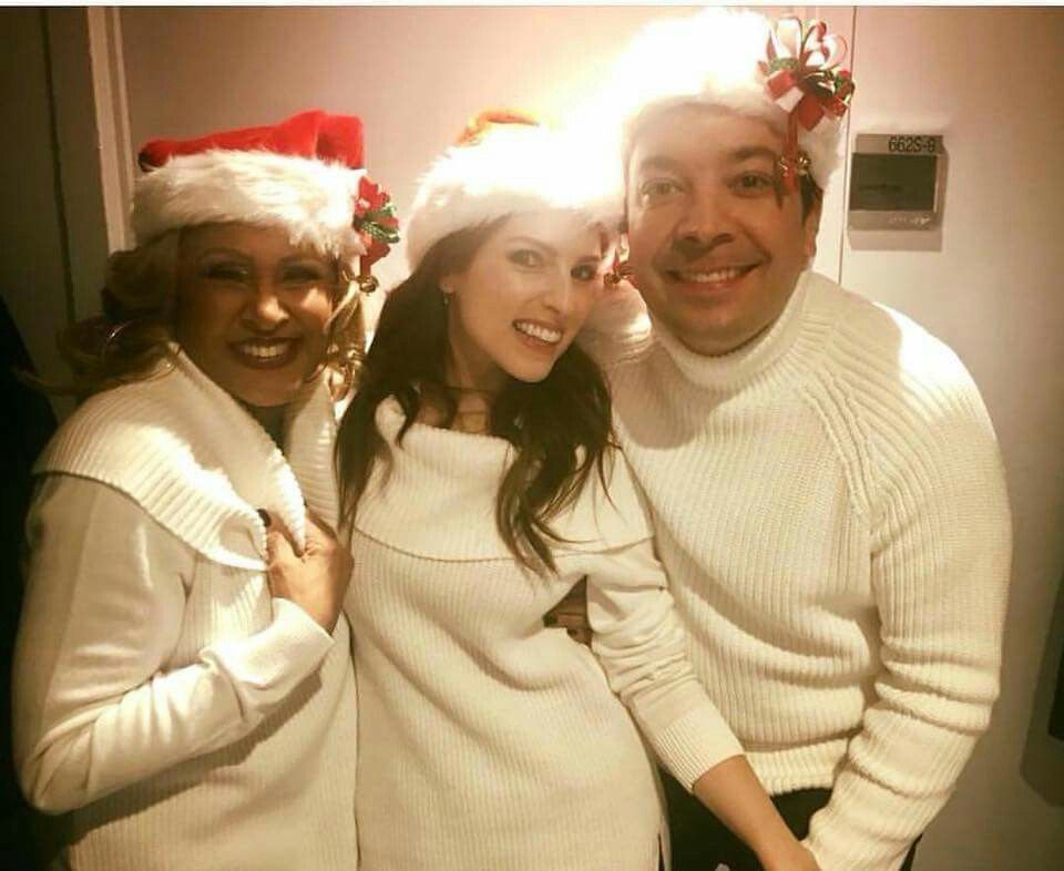"""Anna with Jimmy Fallon and Darlene Love backstage on """"The Tonight ..."""