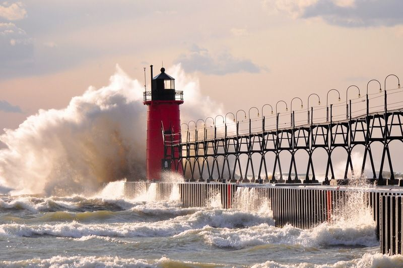Beach On Lake Michigan In South Haven