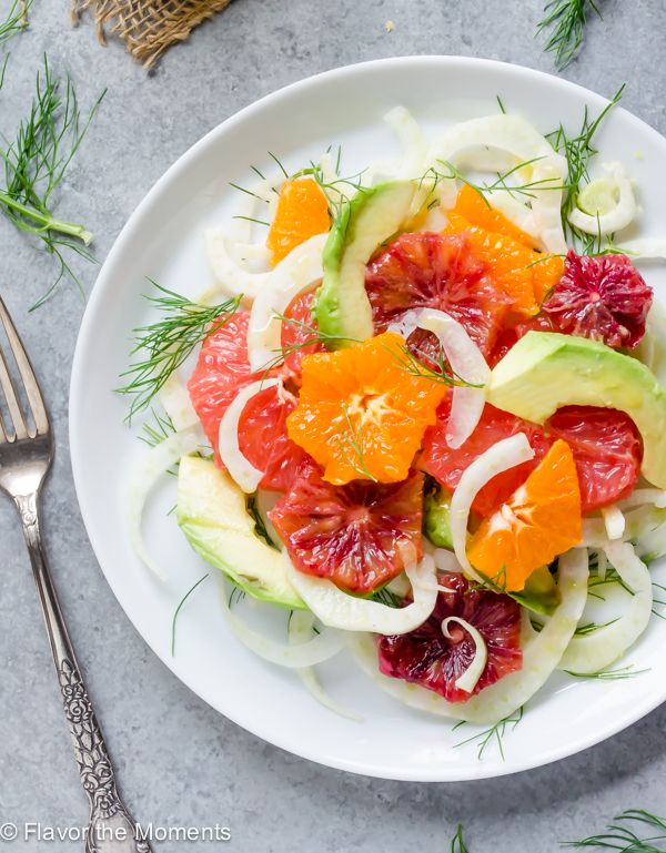 Citrus, Fennel, and Avocado Salad is refreshing, flavorful, and perfect for