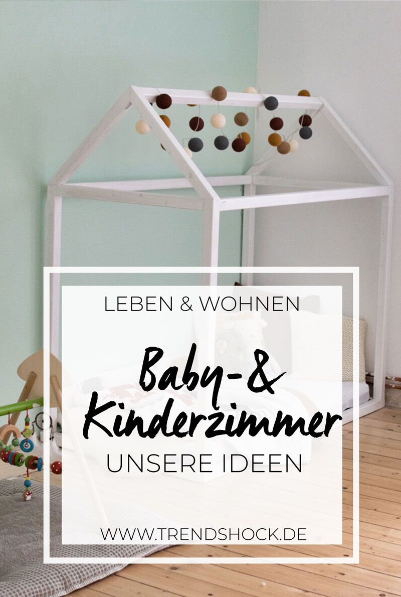 willkommen im babyzimmer hausbett holzdielen und waldtiere. Black Bedroom Furniture Sets. Home Design Ideas
