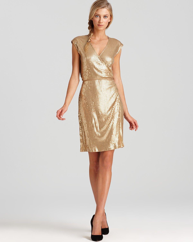 Michael michael kors short sleeve sequin wrap dress i could the bridesmaids dress ombrellifo Images