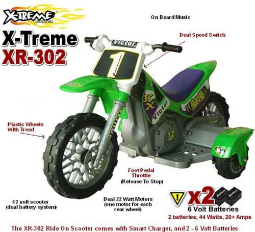 The Electric Xr 302 Kids Ride On Dirt Bike Inspiration Pinterest