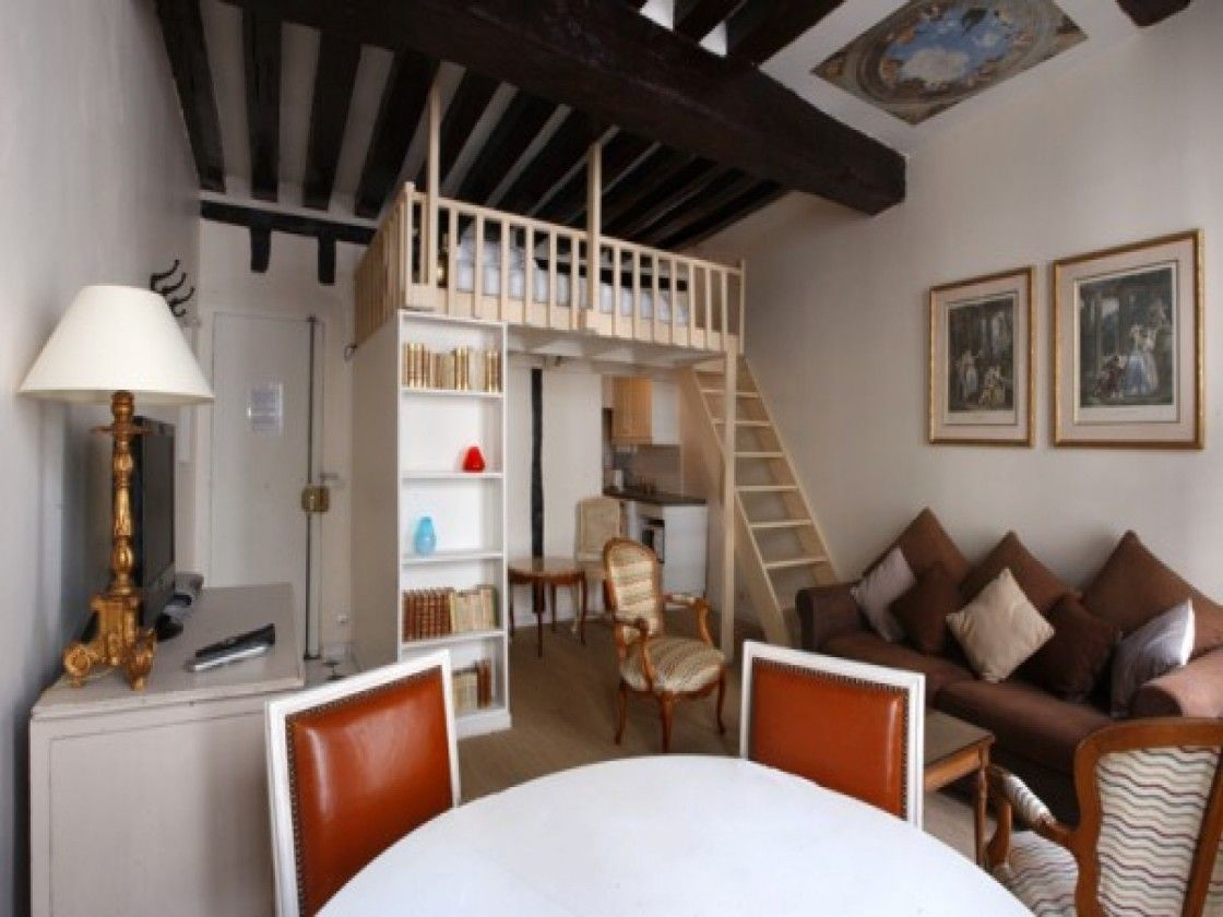 Kleine Wohnung Einrichten Mit Hochbett_1 Zi. App. Beispiele