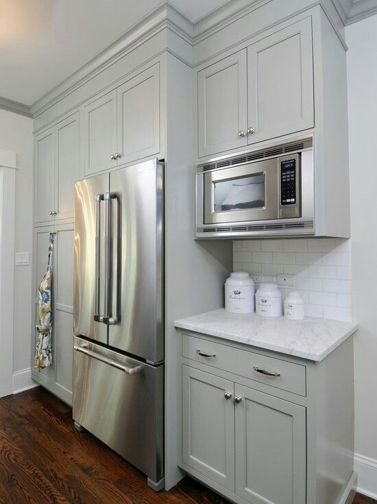 Benjamin moore fieldstone gray … | Kitchen cabinet design ...