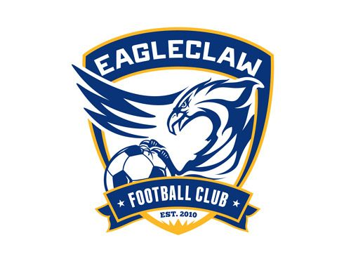 Eagleclaw Football Club Logo Design Pixelube Football Logo Design Football Club Football Team Logos