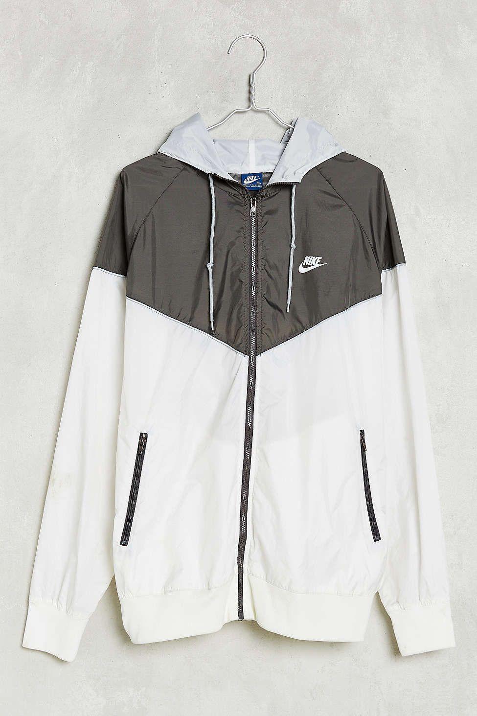 Nike jacket gray and black - Jacket Nike Windbreaker Black And White Blue Withe Black White Coat Nike Live Love Nike Pinterest Dress Shops Skirts And I Love