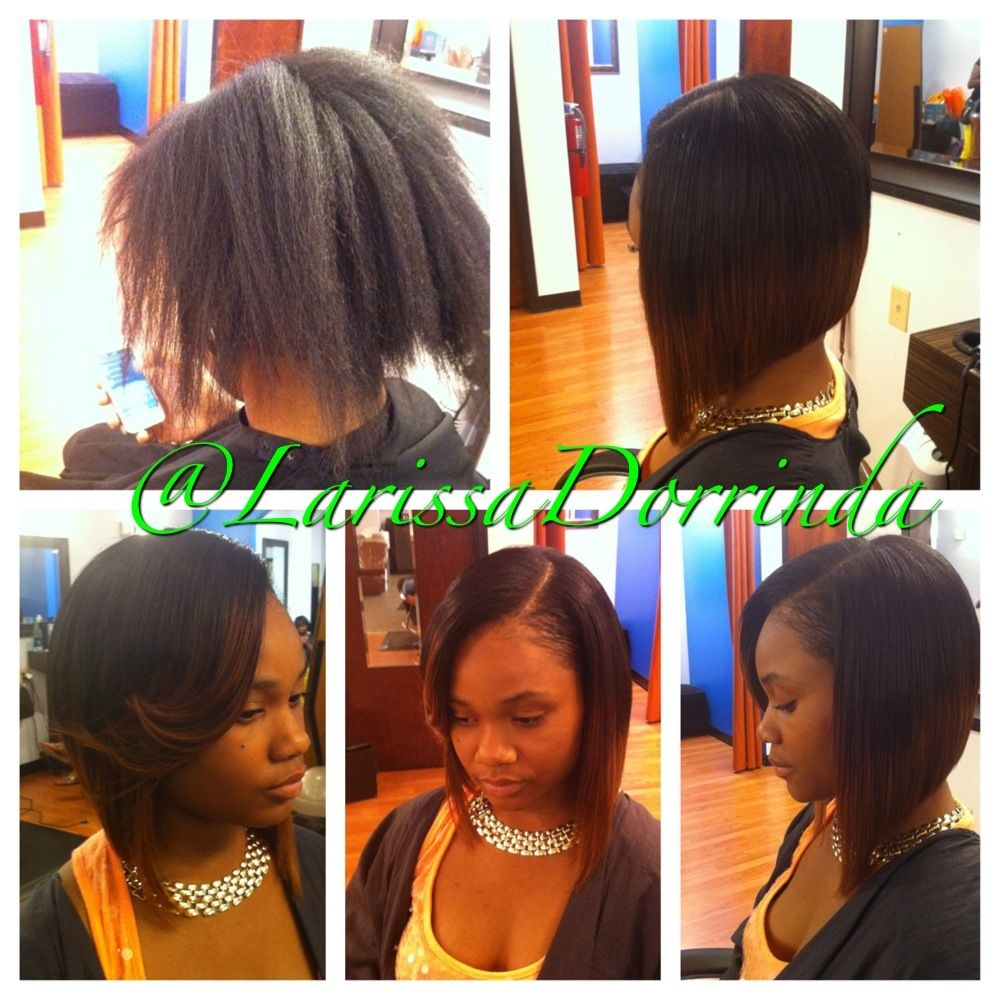 Partial Sew In Styled And Cut Into A Bob By Larissa Dorrinda 4122814155