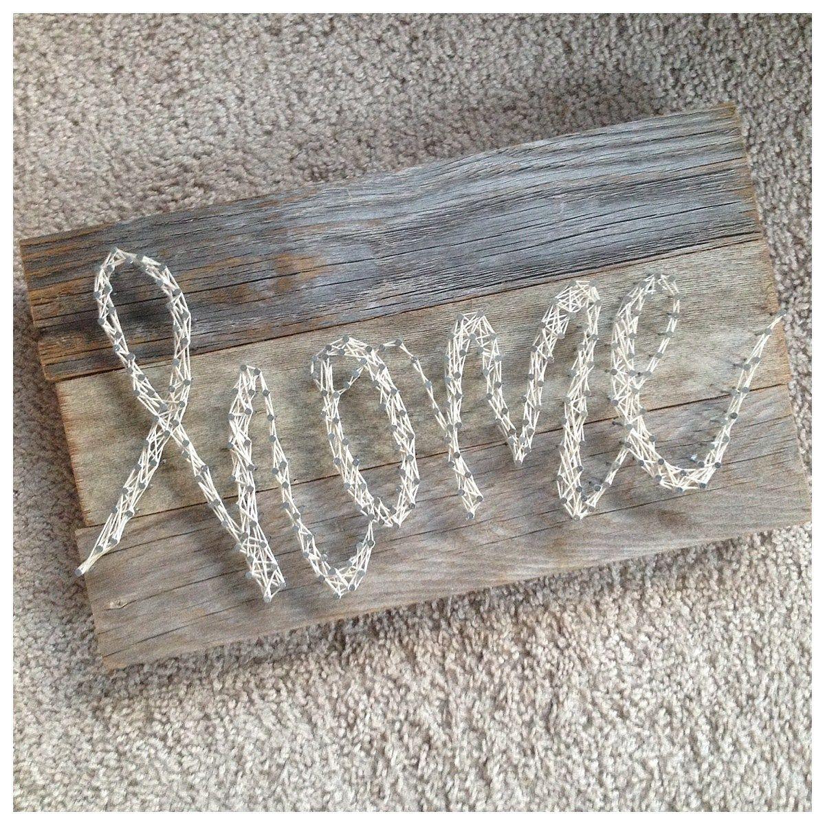 String art tutorial diy home decor pallet sign cute crafts string art tutorial diy home decor pallet sign baditri Image collections