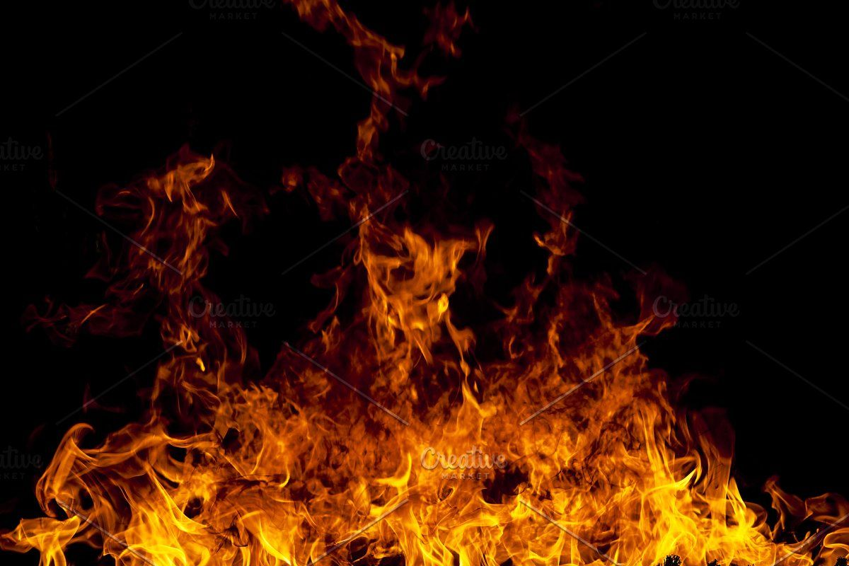 Fire Flames On A Black Background Black Backgrounds Background Fire