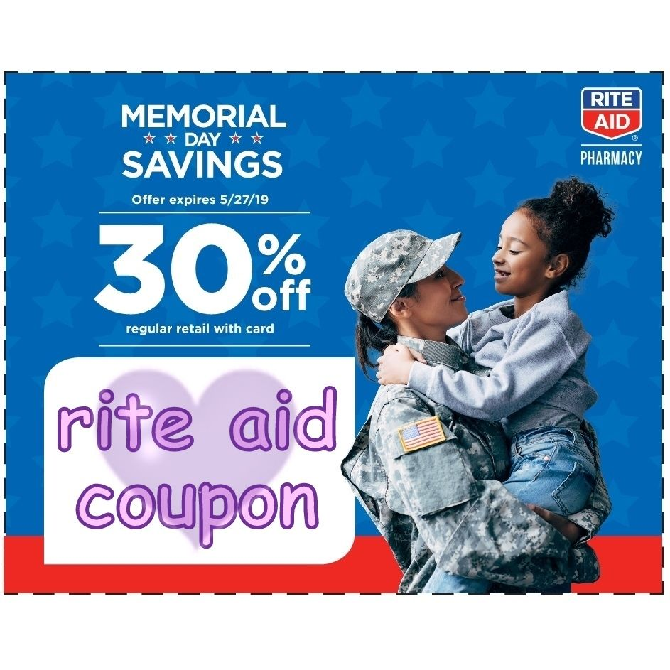 Rite Aid Coupon For 30% Off Regular Prices! Get Details