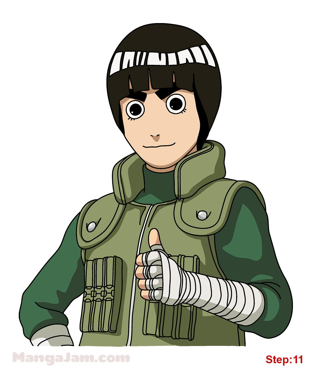 How to Draw Rock Lee from Naruto in 2020 Rock lee, Rock