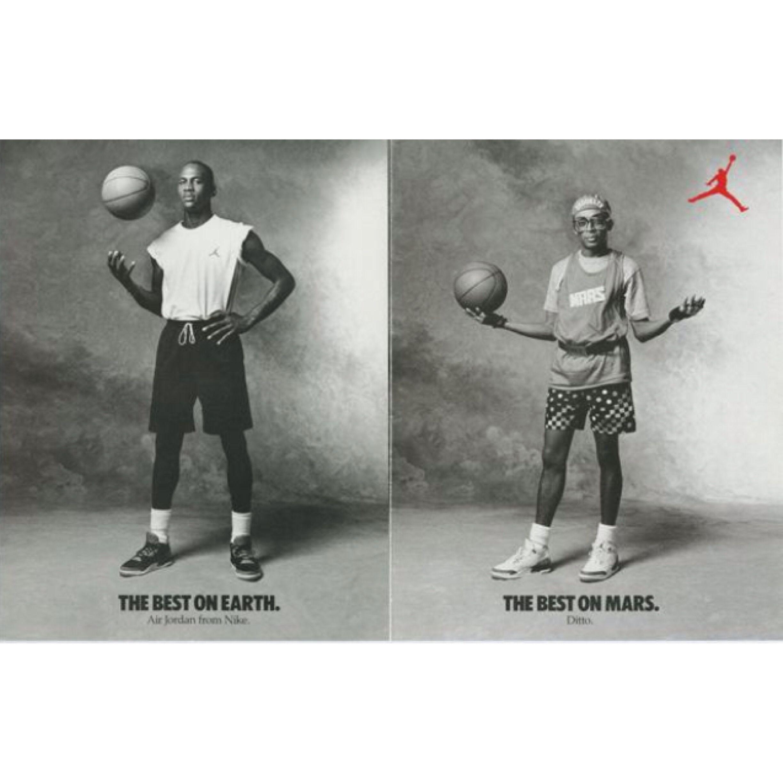 Michael Jordan and Mars Blackman (Spike Lee) in Air Jordan III's 1988