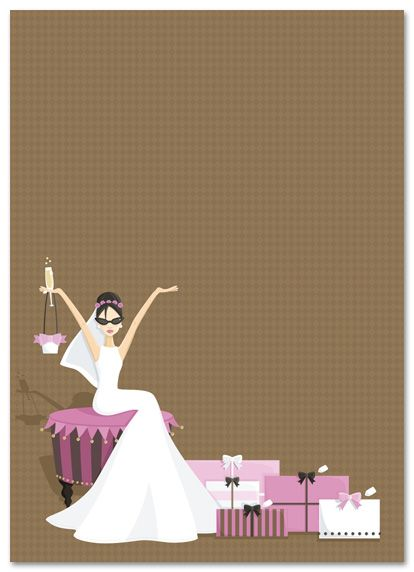 Pink Gifts Glamour Bridal Shower Invitations My Style Pinterest