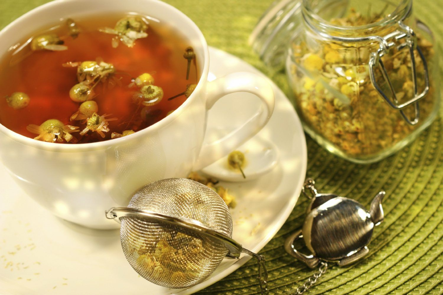 Chinese herbal insomnia tea - Herbal Steam With Chamomile Tea For Stuffy Nose