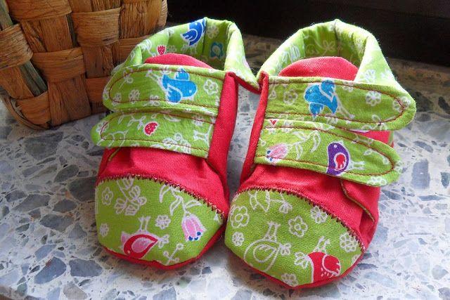 Babyschuhe selbst genäht/ babyshoes selfmade, Schnittmuster von ...