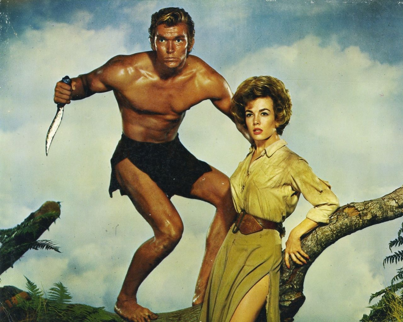Denny Miller and Joanna Barnes - Tarzan, the Ape Man (1959)