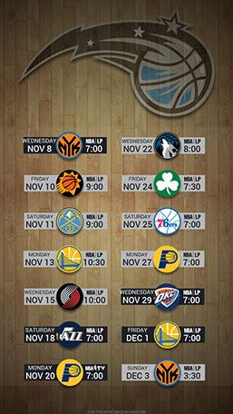 Orlando Magic 2017 Mobile Schedule Wallpaper V2 2017 Nba