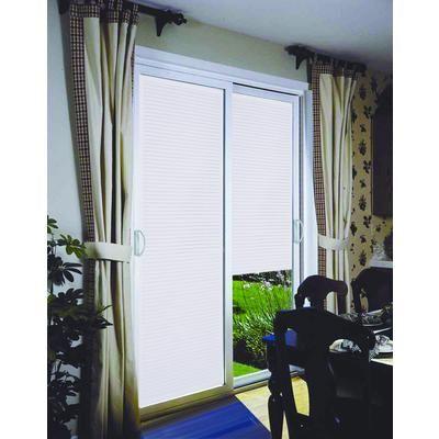 Stanley Doors   Double Sliding Patio Door   Internal Mini Blinds   6 Foot /  72