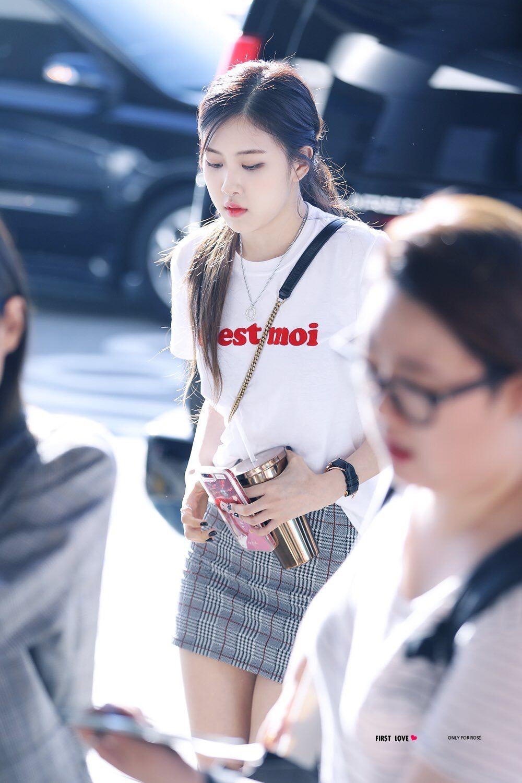 Blackpink Rose Airport Fashion Kpop Fashion Korean Airport Fashion