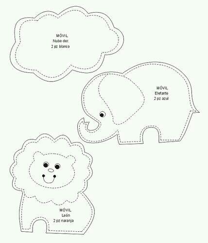 Pin by Filiz Şen Fırat on bebek aksesuar Pinterest App block - elephant cut out template