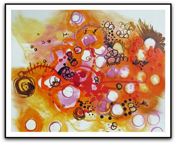 Organic ART painting       16 x 20 giclee