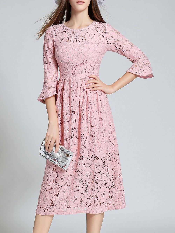 High Waisted Lace Prom Dress | Vestiditos, Vestidos bonitos y ...