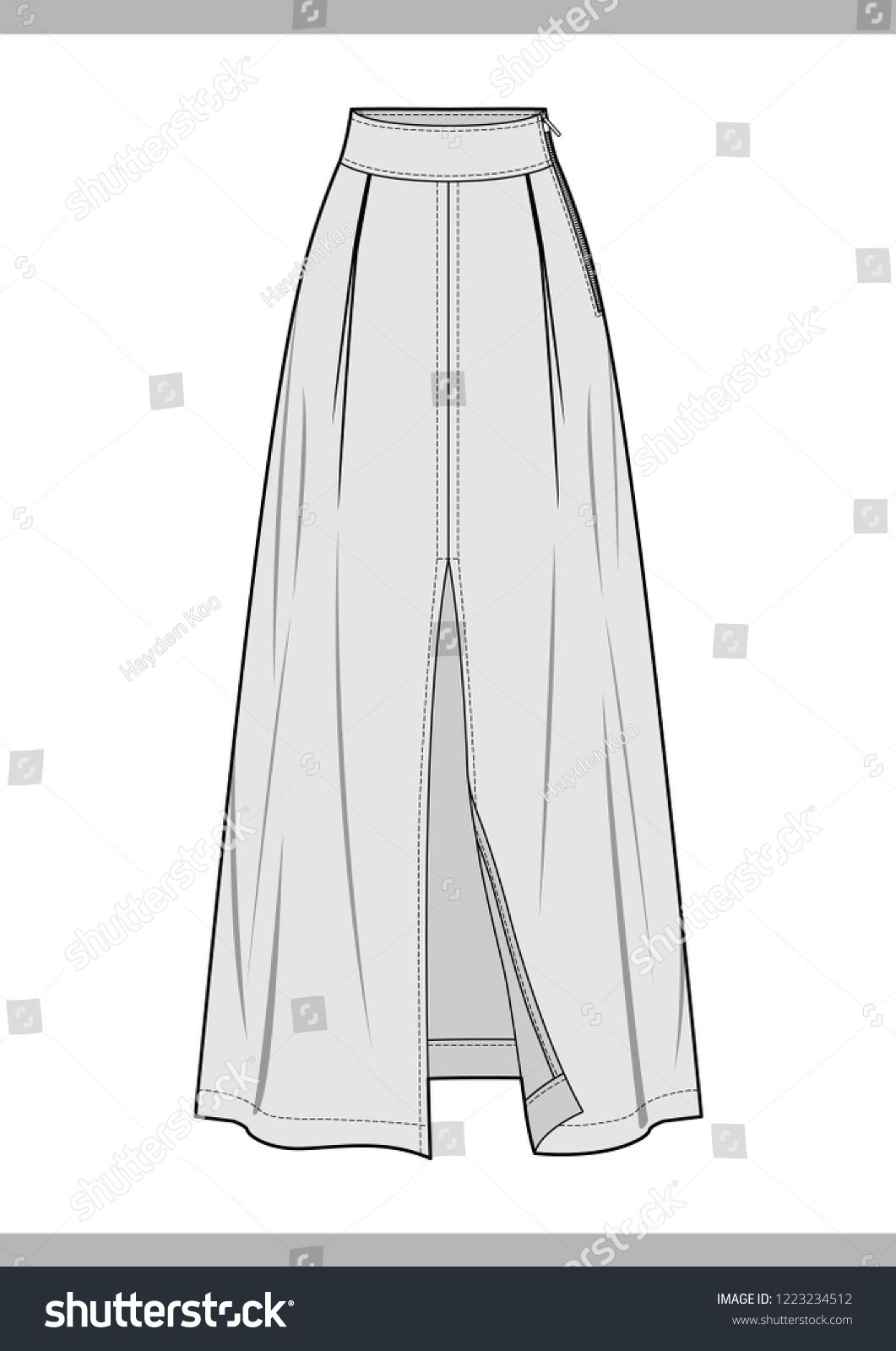 4403fa31b68f7a Find SKIRT Fashion technical drawings vector template stock vectors and royalty  free photos in HD. Explore millions of stock photos, images, illustrations,  ...