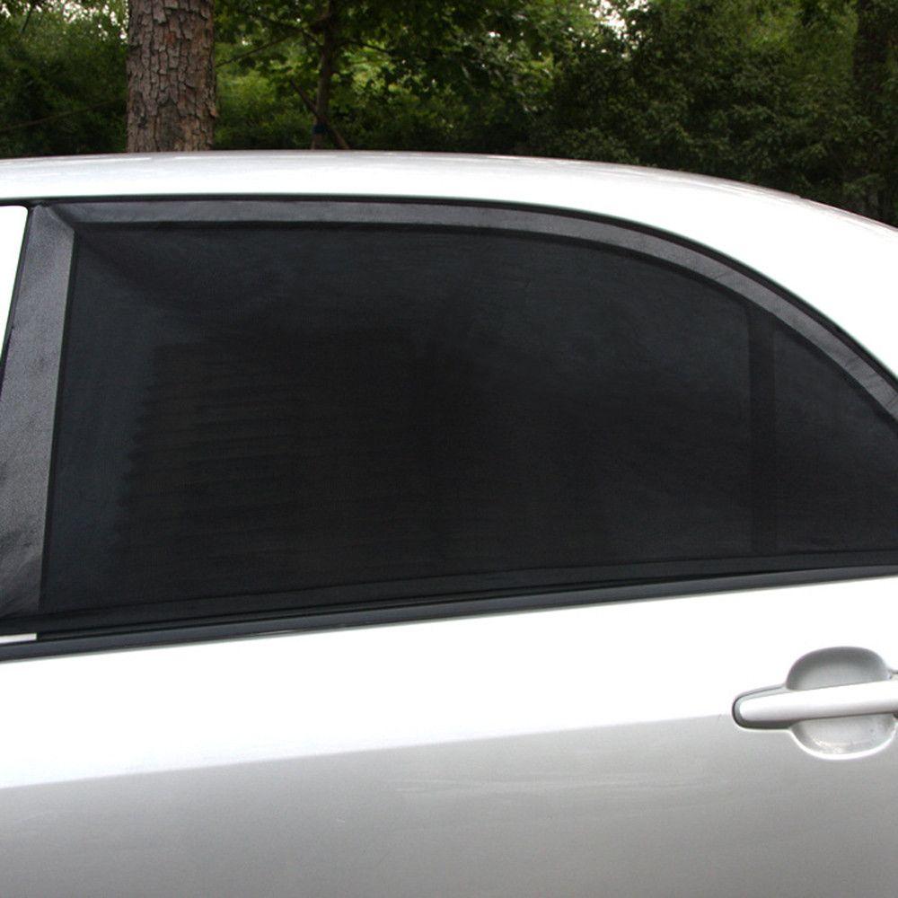 7be5d3e045ee Sun Shades 4x Car Rear Window UV Mesh sun shades Blind Kids Children  Sunshade Blocker Black jul16