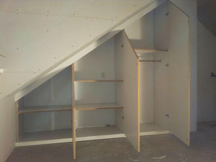 afbeeldingsresultaat voor inbouwkast schuine wand maken | storage, Deco ideeën