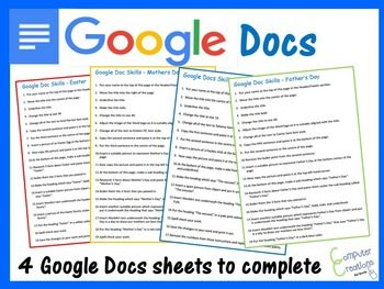Word Processing Exercise Worksheets For Google Docs Google Docs Google Documents Worksheets