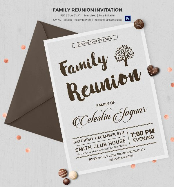 Family Reunion Invitation Templates  Free Psd Vector Eps Png