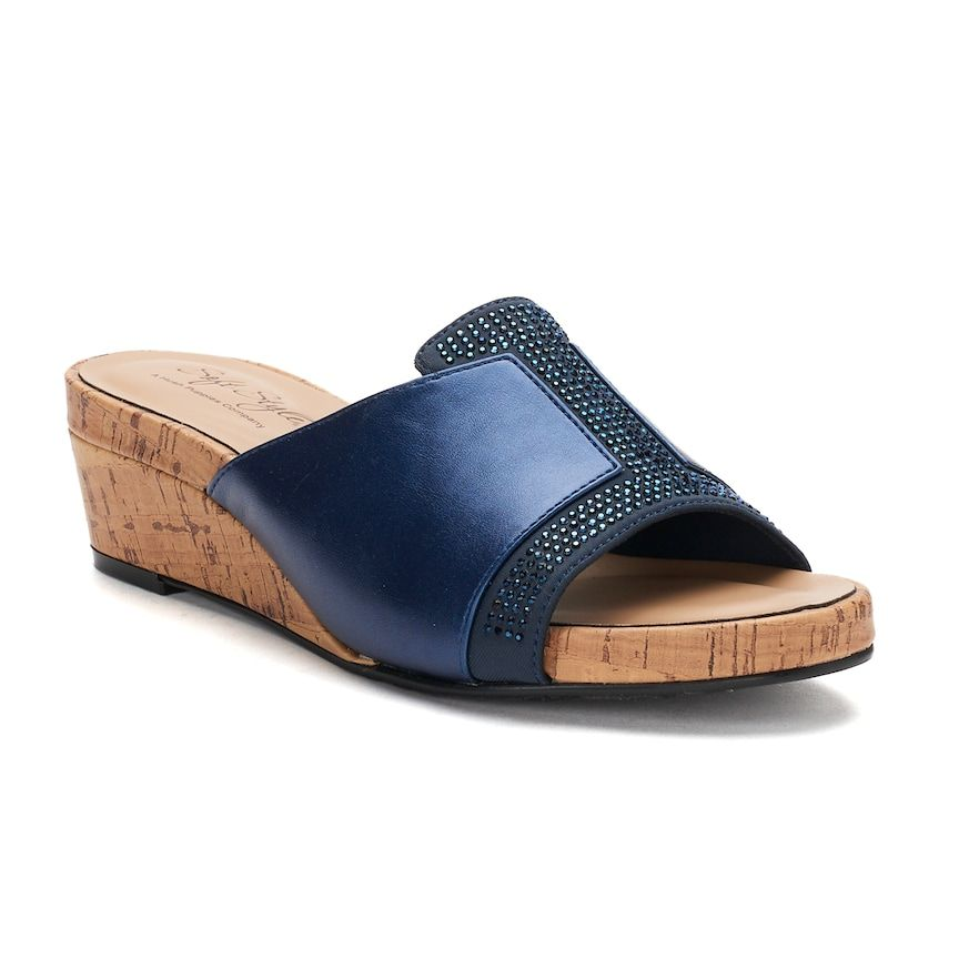 Soft Style by Hush Puppies Omber Women's Sandals, Blue (Navy
