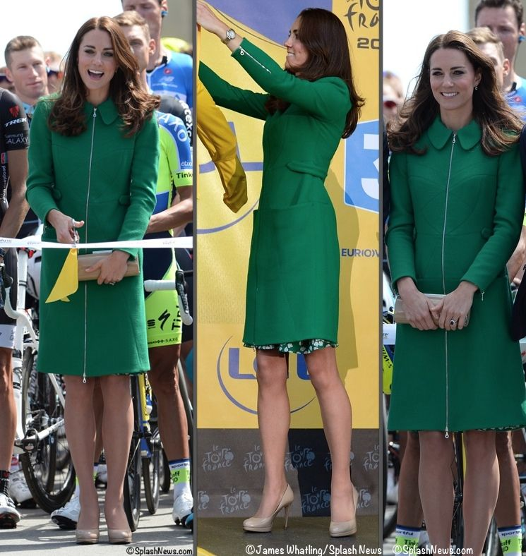 Erdem Allie coat, worn for Tour de France opening, previously worn in Australia, now worn March 2016