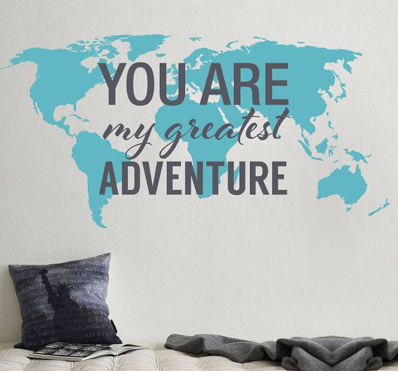 You are my greatest adventure world map decal large world map you are my greatest adventure world map decal large world map vinyl wall sticker publicscrutiny Images