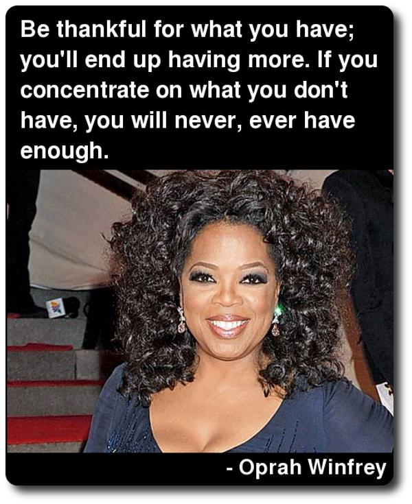 Oprah Winfrey Quotes Oprah Winfrey Quote On Gratitude  Quotes  Pinterest  Oprah .