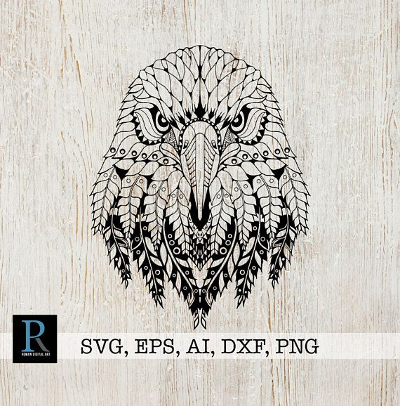 306d33a5e3786 Zentangle Eagle SVG, Mandala Eagle SVG, Eagle SVG, Eagle cut file, Eagle  for cricut, zentangle for c