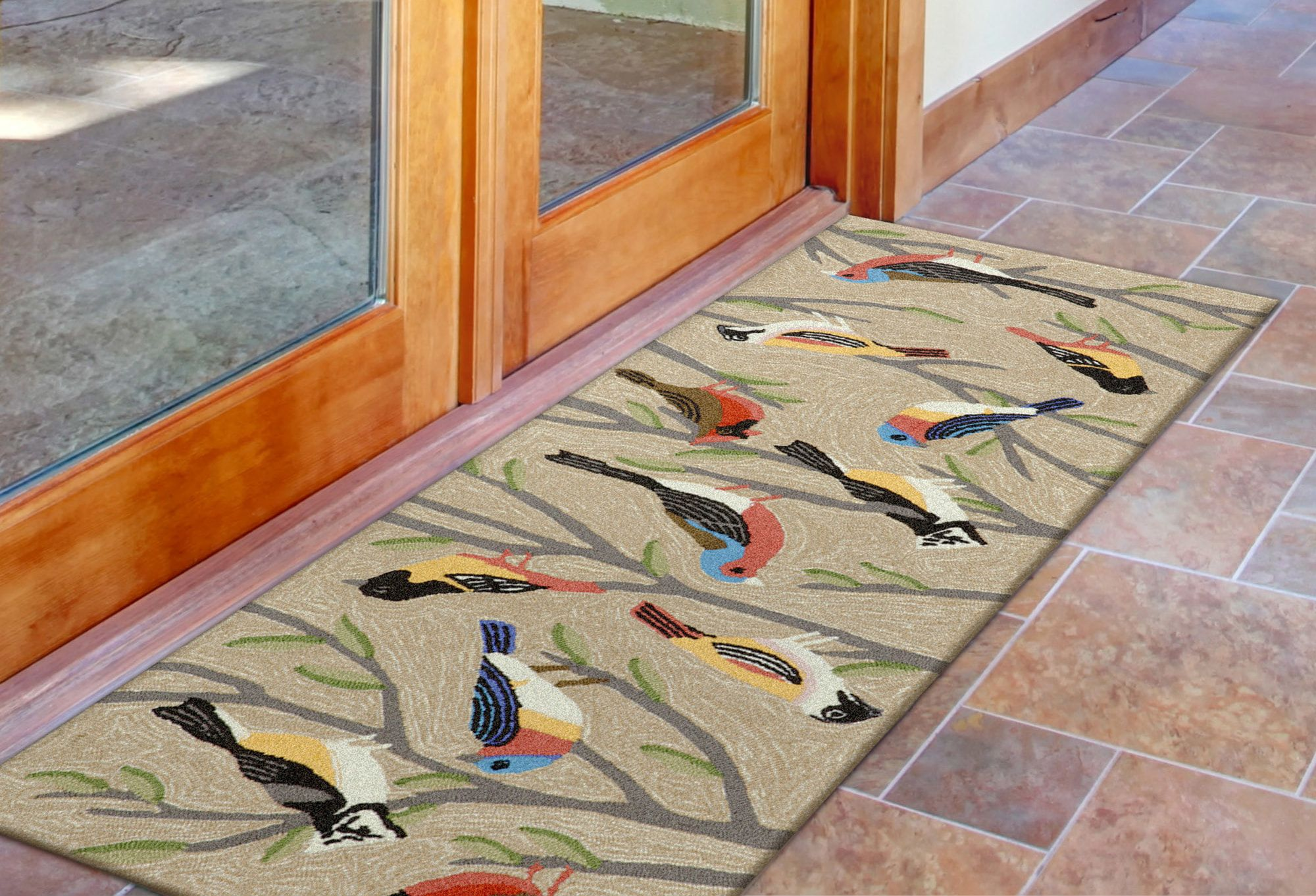 Birds Rug Color Multi Size 1 8 X 2 6 In 2020 Hand Tufted Rugs Colorful Rugs Birds