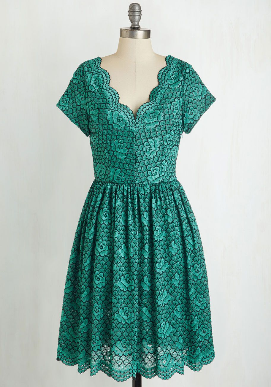 West coast customary circle scarf in cool modcloth teal dresses