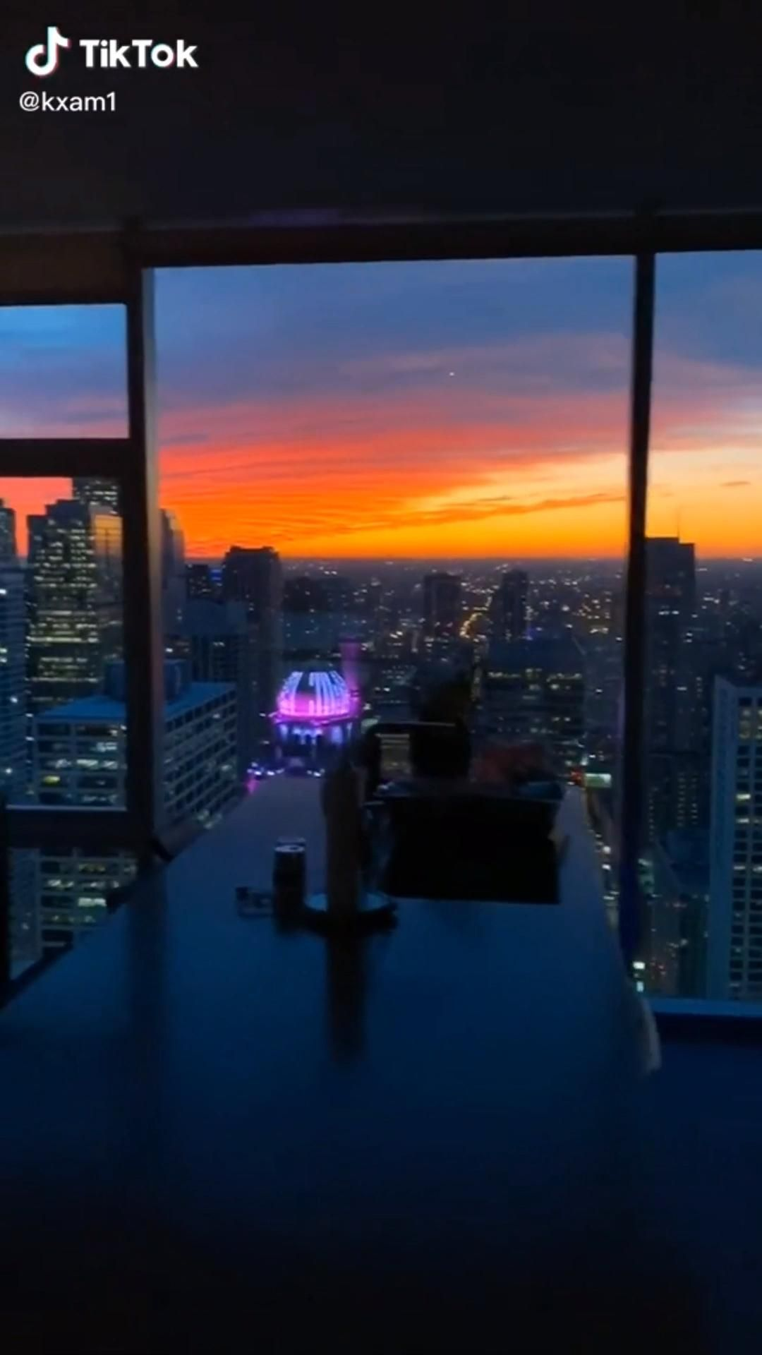 Aesthetic Tiktok Video City View Apartment City View Night Penthouse View