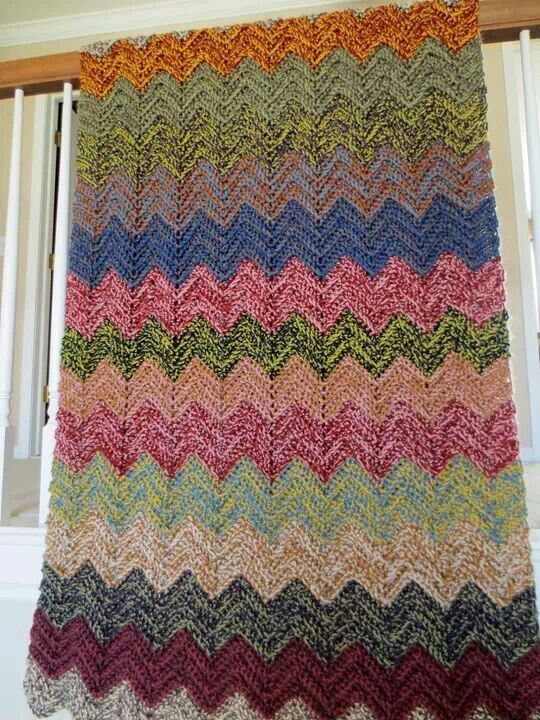 Love These Colors And Double Strands Used Together Crochet