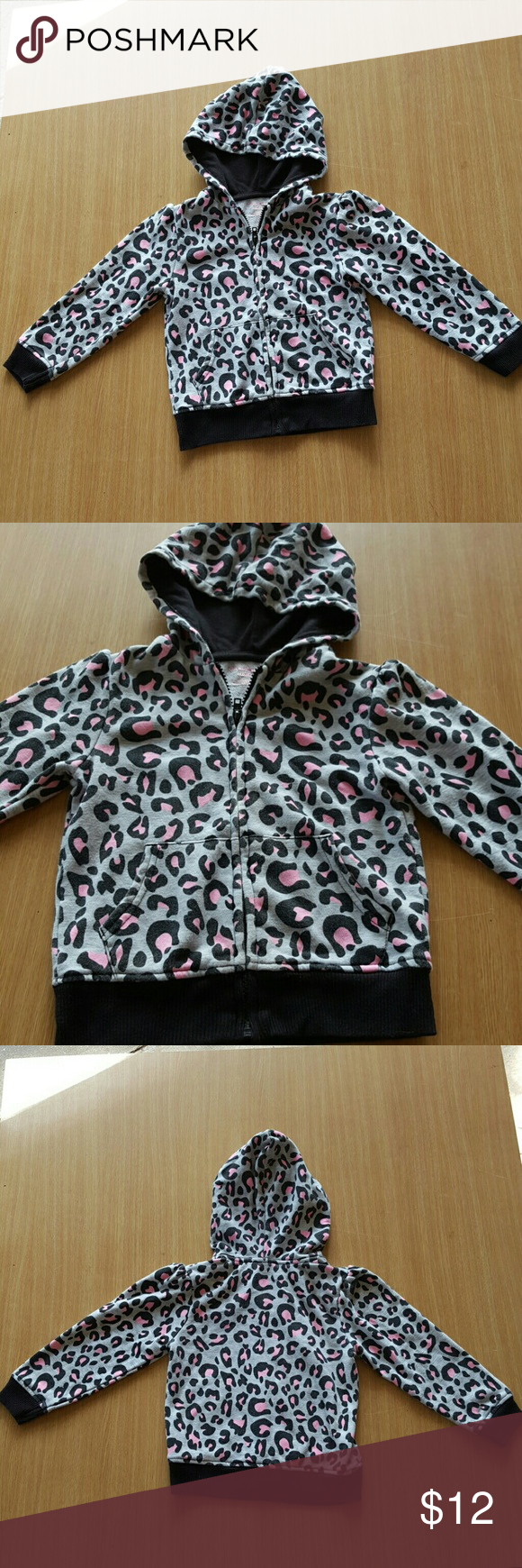 Granimals jacket Light autumn jacket. Pink and black leopards spots. Zips up front. Has pockets in front on waist. Lil puckered sleeve tops. Gently used. Granimals  Jackets & Coats