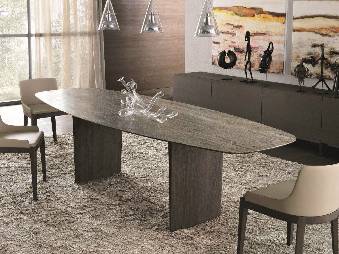 Rectangular Marble Table Ala Atelier Collection By Misuraemme