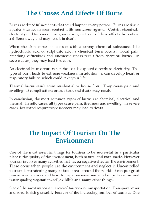 8th Grade Cause And Effect Essay Sample Writing Skill Ielt English Skills Example