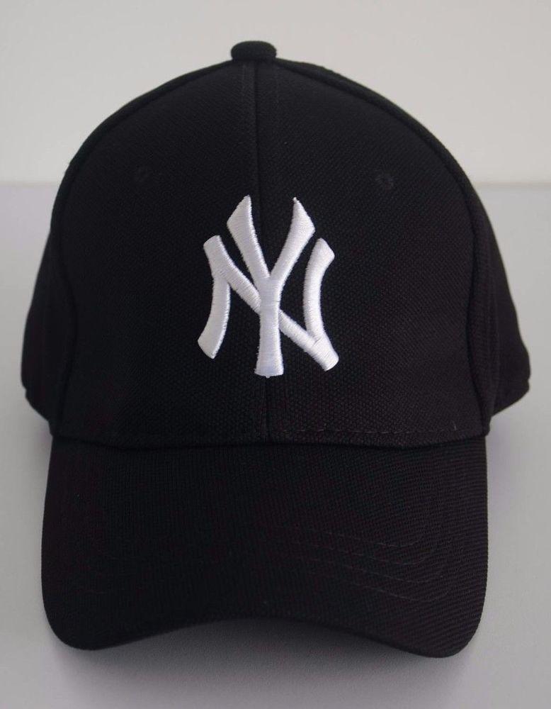 3443b3947 New York NY Men's Baseball Black White Flexfit Stretch Fit Cool Cap Unisex  Hat #ACEHC #BaseballCap