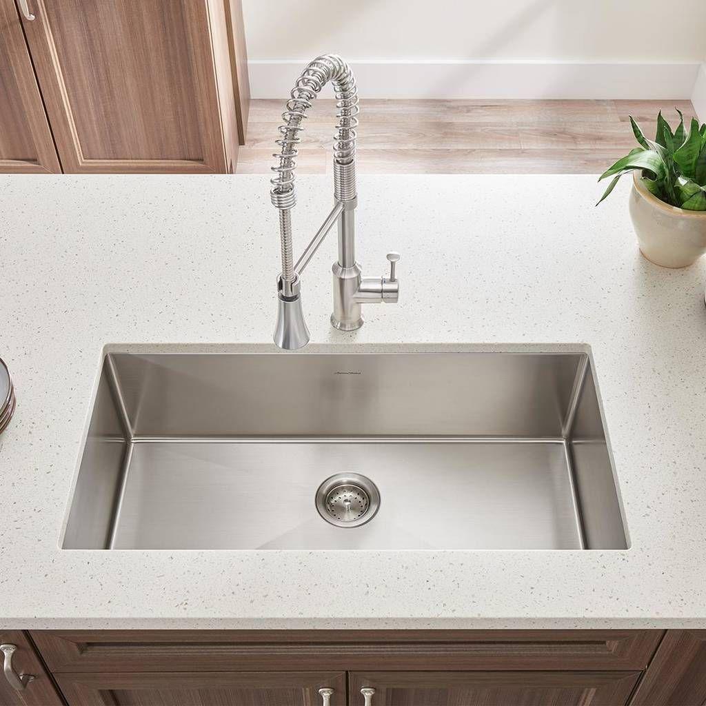 Pekoe Extra Deep Undermount 23x18 Single Bowl Kitchen Sink American Standard Kitchen Sink Design Modern Kitchen Sinks Best Kitchen Sinks