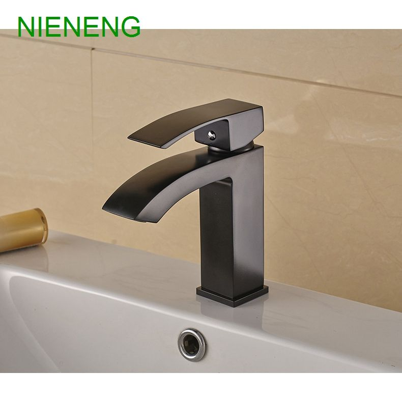 NIENENG big sale bathroom basin faucet copper black plated mixers ...