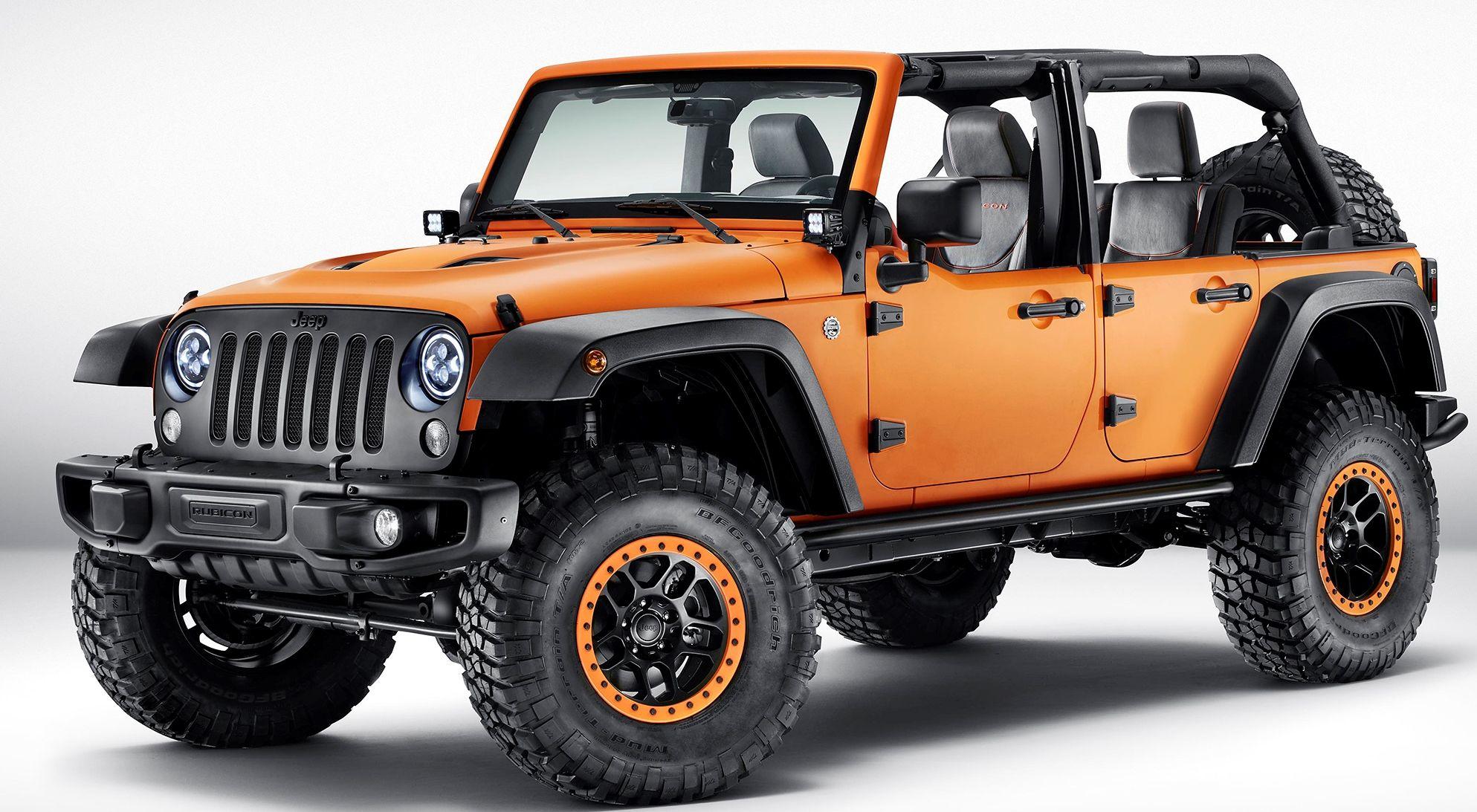 The Jeep Wrangler Rubicon Sunriser Mopar Conceptvehicle Some