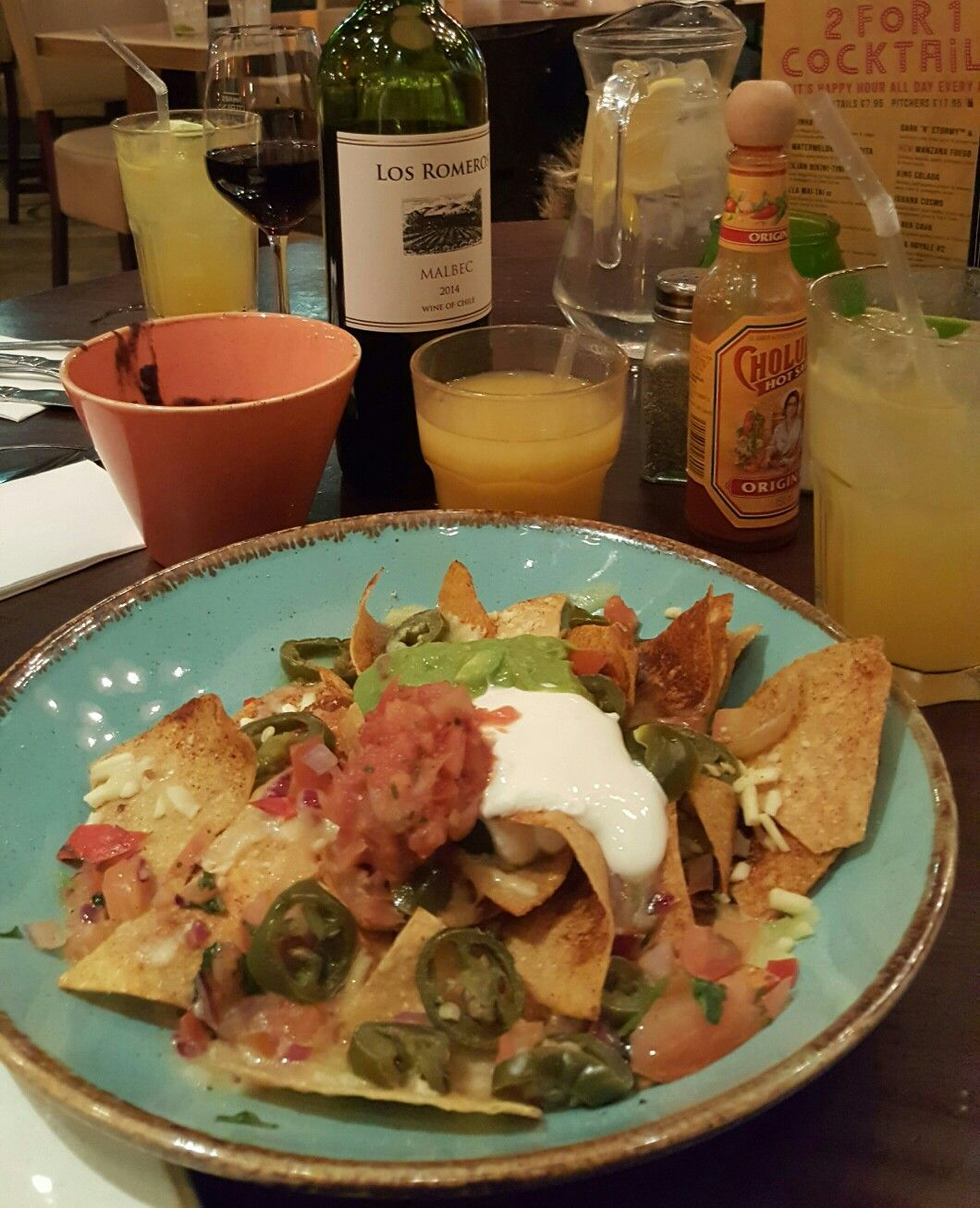 Tasty nachos at Las Iguanas!!
