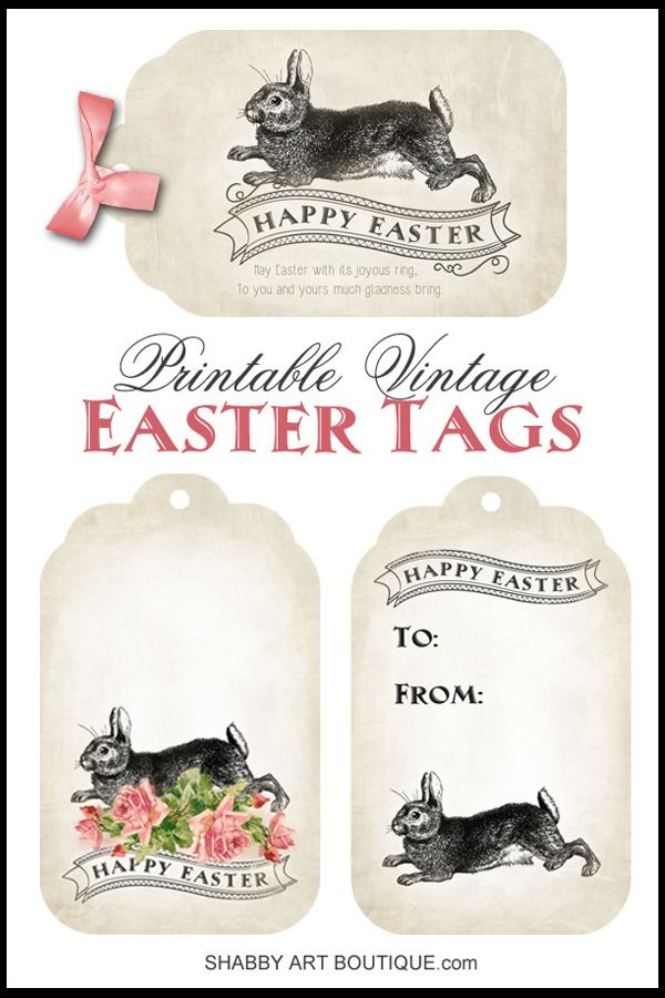 Printable Vintage Easter Tags - Shabby Art Boutique