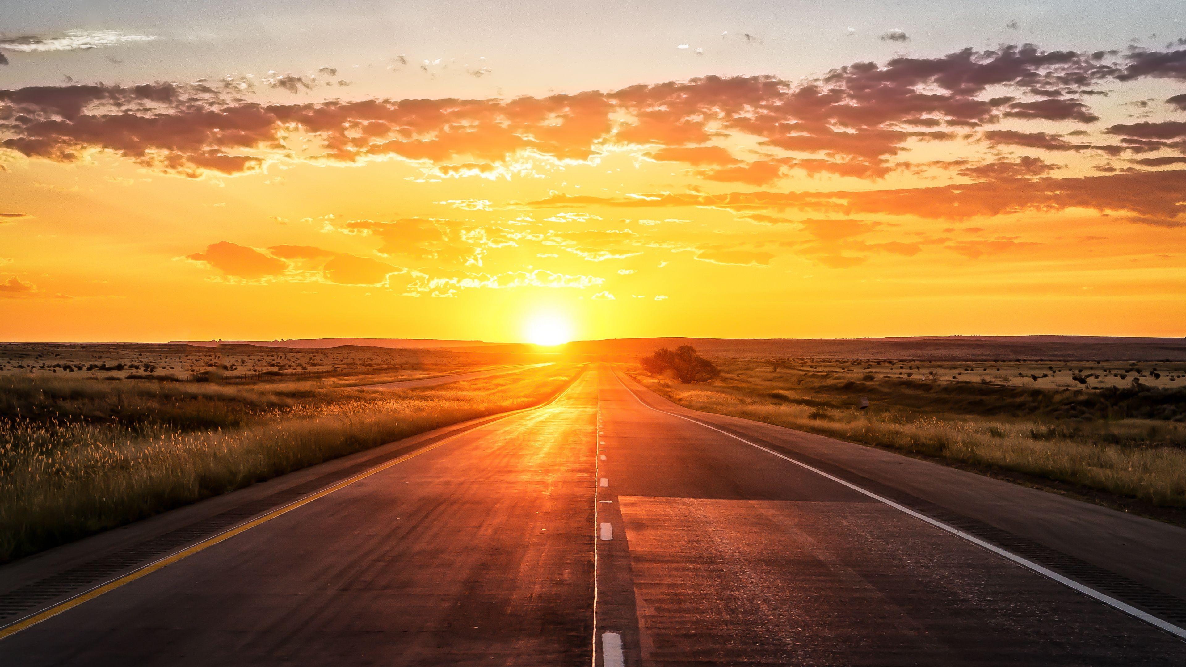 Lab 6 Inspiration Sunset Road Sunset Wallpaper Sunset Hd wallpaper sunset horizon road winter